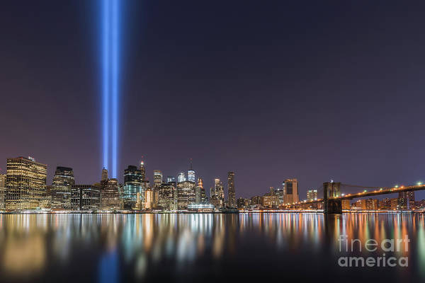 Wall Art - Photograph - Brooklyn Bridge Park Tribute In Light by Michael Ver Sprill