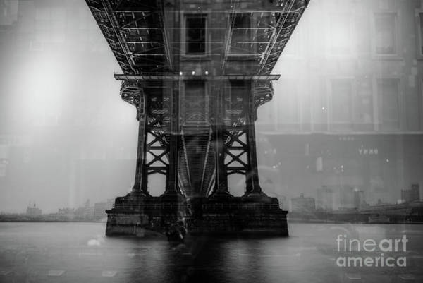 Photograph - Brooklyn Bridge Reflections Nyc by Edward Fielding