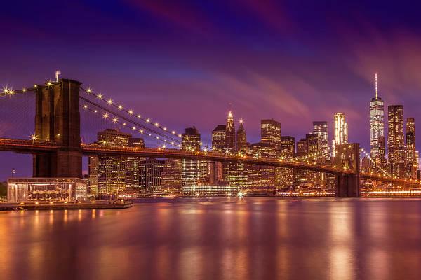 Wall Art - Photograph - Brooklyn Bridge Sunset  by Melanie Viola