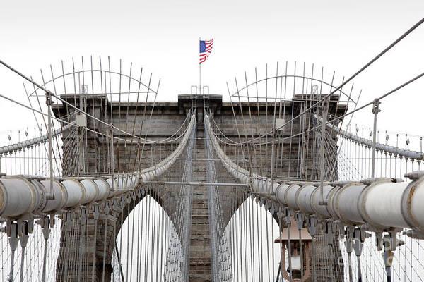 Wall Art - Photograph - Brooklyn Bridge Top by Peter Simmons