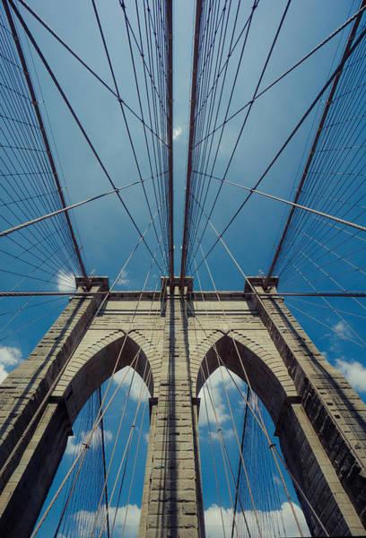 Wall Art - Photograph - Brooklyn Bridge Upclose by June Marie Sobrito