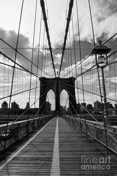 Wall Art - Photograph - Brooklyn Bridge Vertical by Delphimages Photo Creations