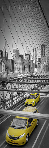 Wall Art - Photograph - Brooklyn Bridge View - Upright Slim Panorama by Melanie Viola
