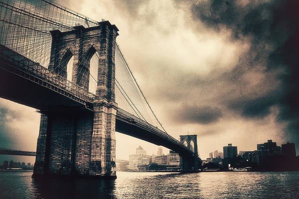 Photograph - Brooklyn Bridge Vintage by Jessica Jenney