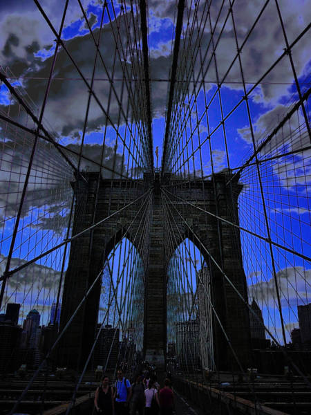 Photograph - Brooklyn Bridge by Xueling Zou