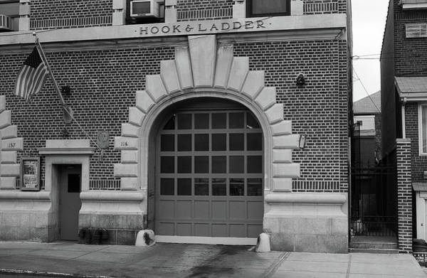 Photograph - Brooklyn Firehouse 2001 Bw by Frank Romeo