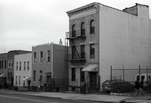 Photograph - Brooklyn Houses 2001 Bw by Frank Romeo