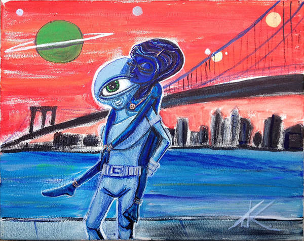 Painting - Brooklyn Play Date by Similar Alien