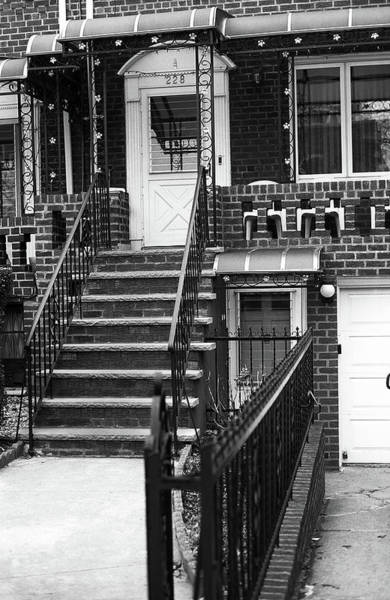 Photograph - Brooklyn Stoop 2001 #3 Bw by Frank Romeo