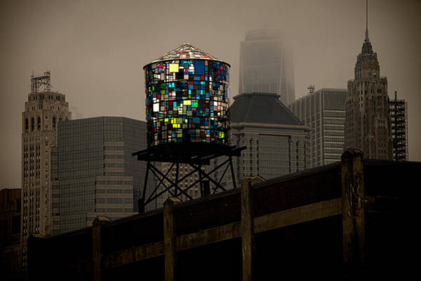 Wall Art - Photograph - Brooklyn Water Tower by Chris Lord