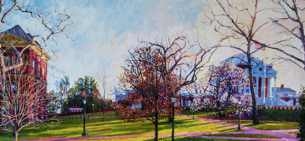 Wall Art - Painting - Brooks Hall And The Rotunda by Edward Thomas