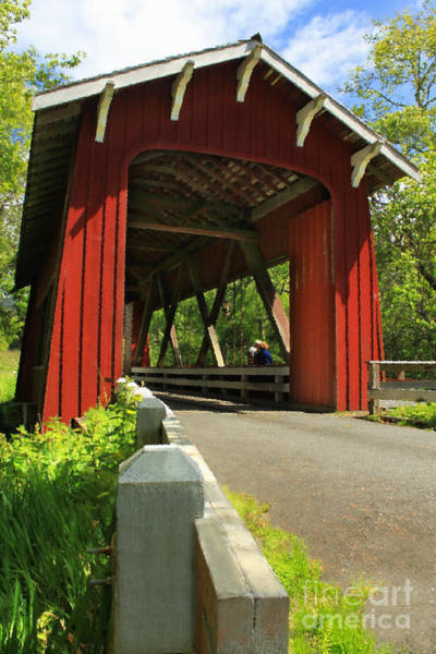Photograph - Brookwood Covered Bridge by James Eddy