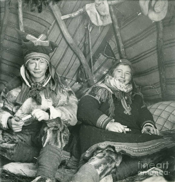 Meyer Painting - Brother And Sister In Their Tent On Finnmarksvidda by Celestial Images