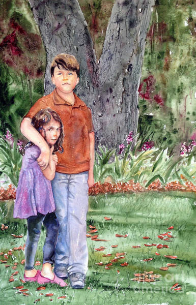 Snapdragons Painting - Brother And Sister by Shirley Sykes Bracken