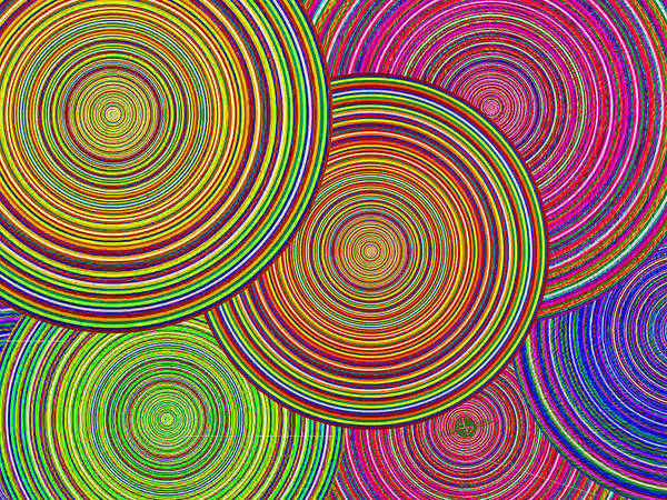 Blending Painting - Brothers And Sisters Circles Unite In Dignity And Respect 1 by Tony Rubino