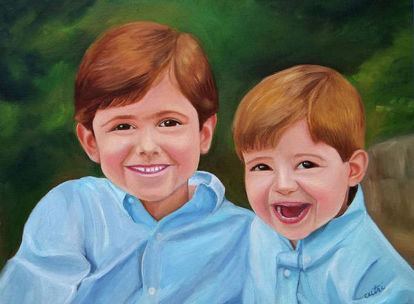 Painting - Brothers by Anne Cameron Cutri