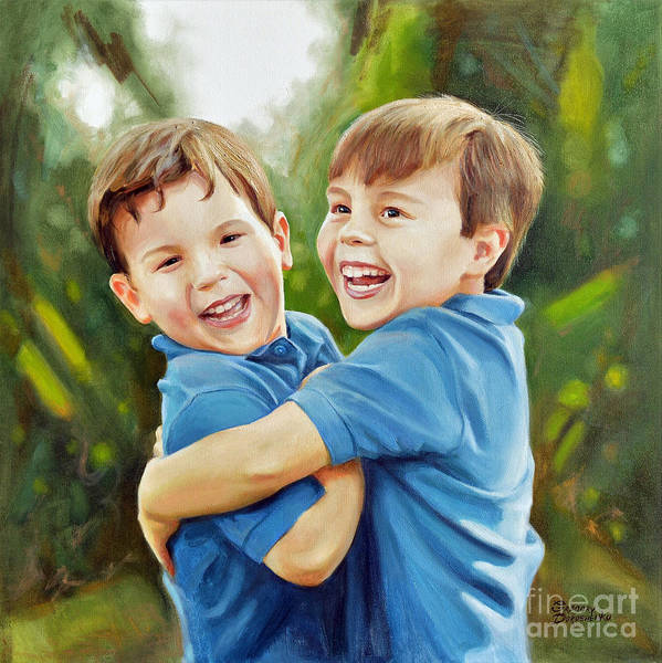 Me Too Painting - Brothers Love by Gregory Doroshenko