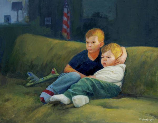 Painting - Brothers by Mel Greifinger