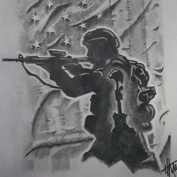 Wall Art - Drawing - Brothers Memory by Howard King