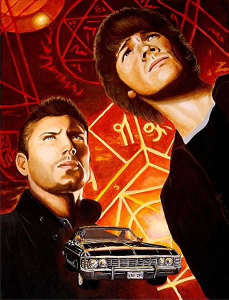 Jared Wall Art - Painting - Brothers Winchester by Al  Molina