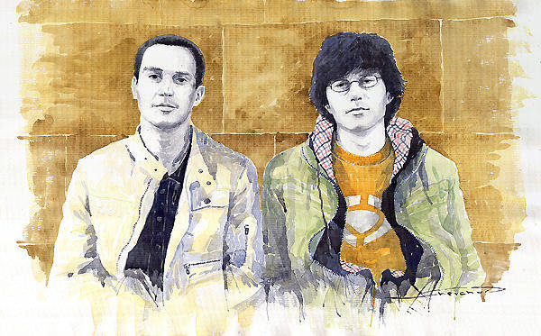 Wall Art - Painting - Brothers  by Yuriy Shevchuk