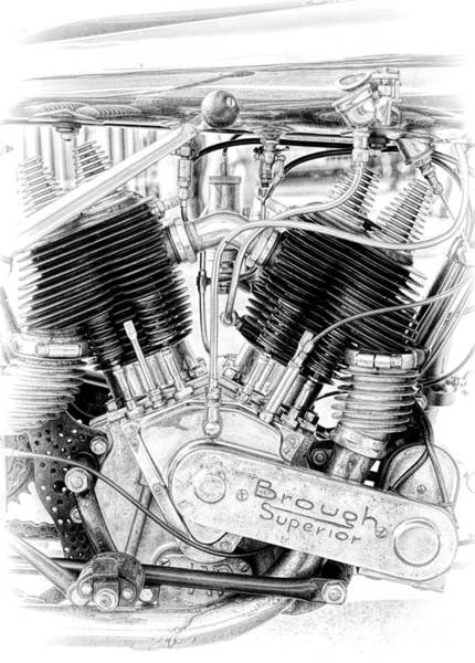 Photograph - Brough Superior Engine by Tim Gainey