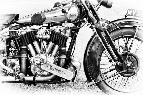 Photograph - Brough Superior Monochrome by Tim Gainey