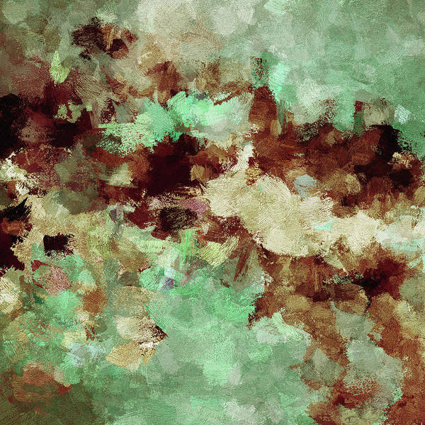 Painting - Brown Abstract Acrylic Painting by Inspirowl Design