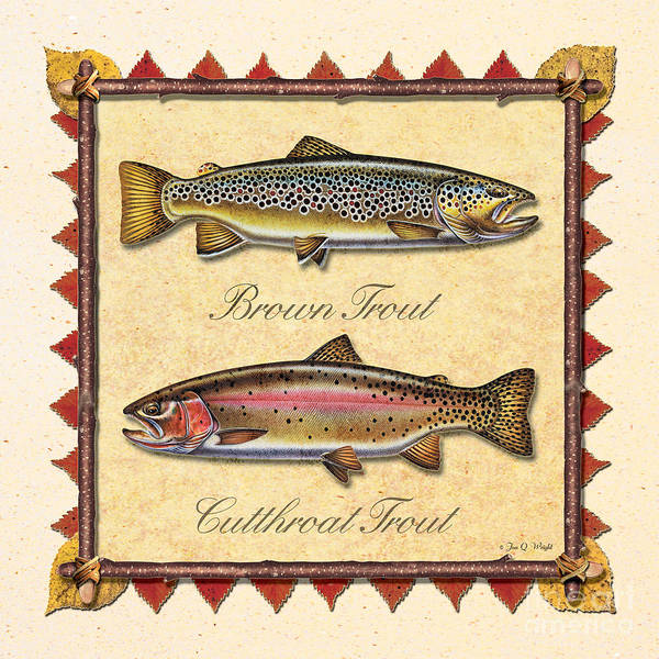 Painting - Brown And Cutthroat Creme by JQ Licensing