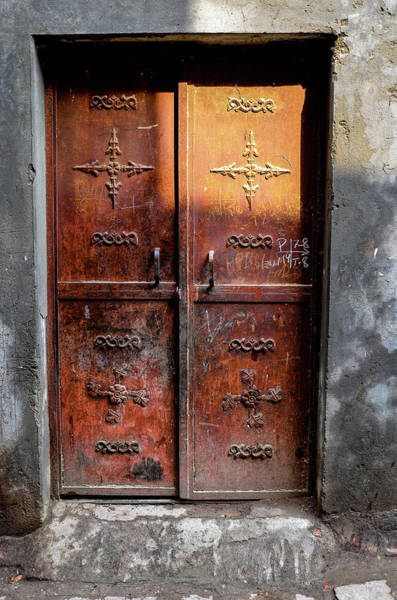 Photograph - Brown Door by M G Whittingham