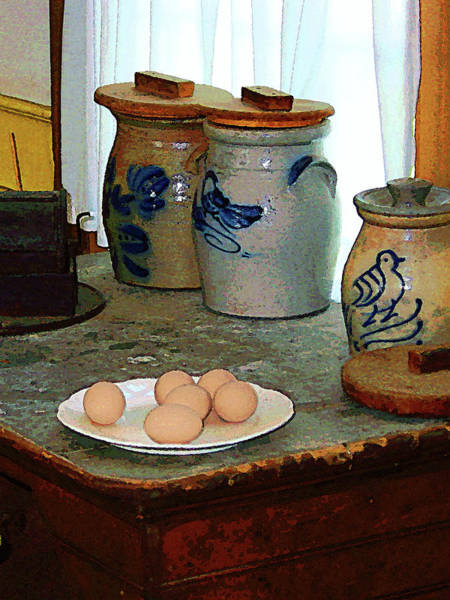Photograph - Brown Eggs And Ginger Jars by Susan Savad