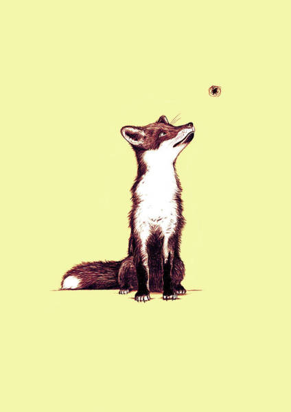 Foxes Digital Art - Brown Fox Looks At Thing by Nicholas Ely