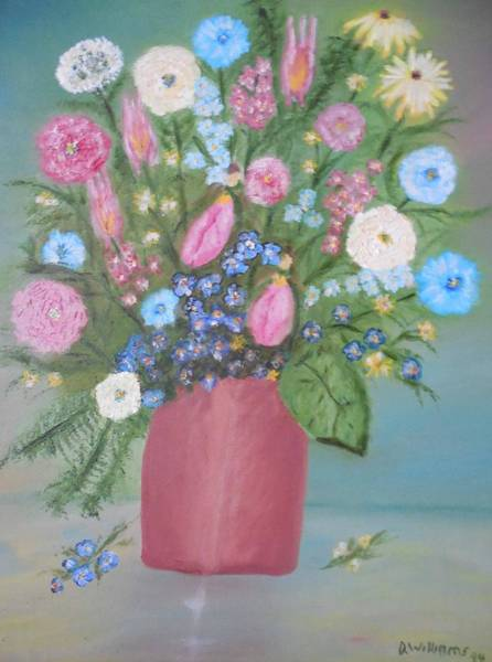 Don Williams Painting - Brown Jug Of Flowers by Don Williams