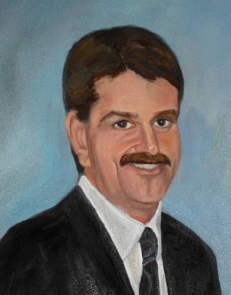 Painting - Brown Son Commissioned Portrait Detail by Anne Cameron Cutri