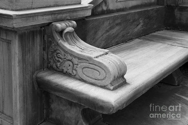 Photograph - Brown University John Hay Library Bench by University Icons