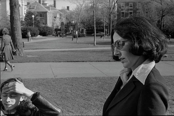 Photograph - Brown University Student And His Mother, 1975 by Jeremy Butler