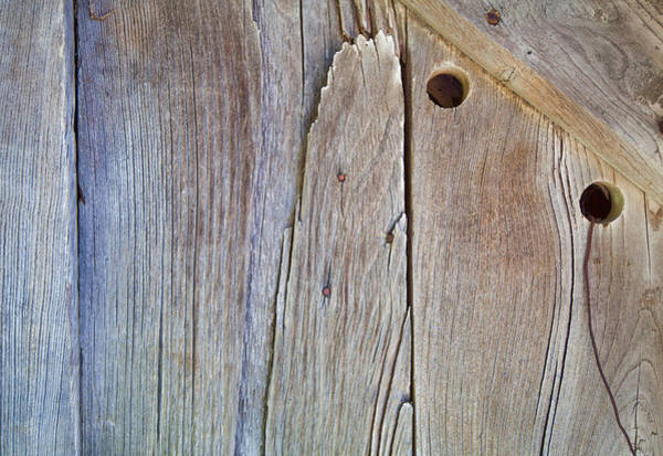 Photograph - Brown Wood Barn Door by David Letts