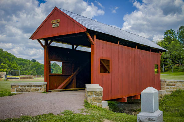 Photograph - Brownlee Or Scott Covered Bridge by Jack R Perry