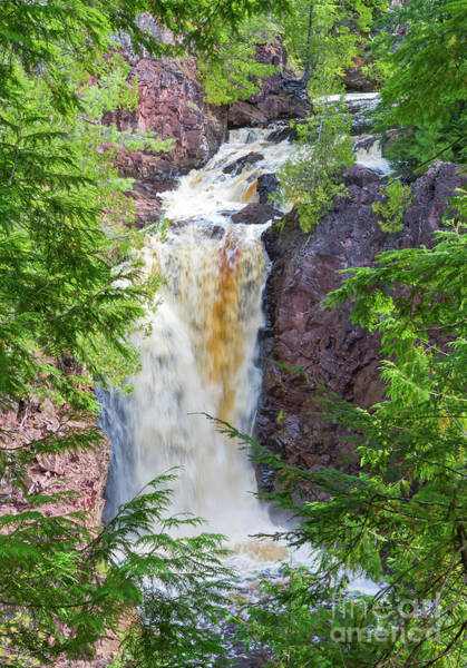 Photograph - Brownstone Falls In Wisconsin by Kevin McCarthy