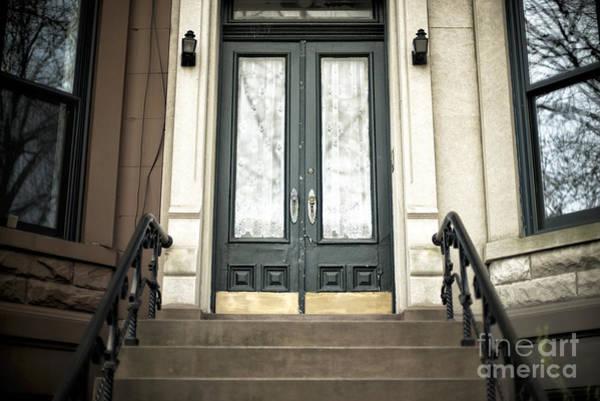 Wall Art - Photograph - Brownstone Green Door by John Rizzuto