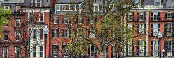 Photograph - Brownstone Panoramic - Beacon Street Boston by Joann Vitali
