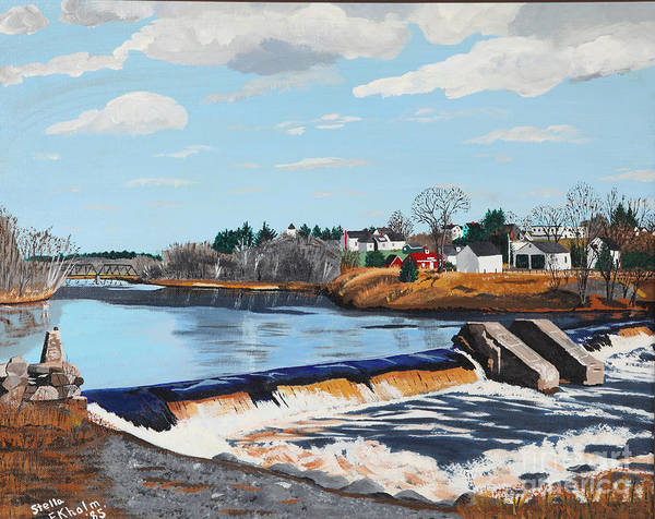 Painting - Brownville Village Dam by Stella Sherman