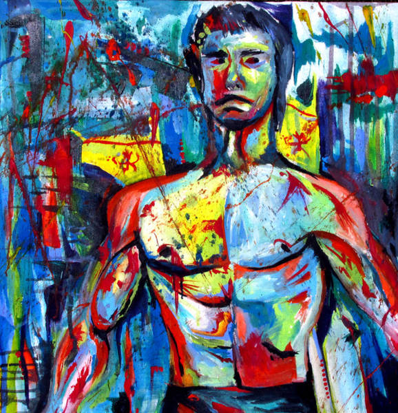 Painting - Bruce Lee by John Jr Gholson