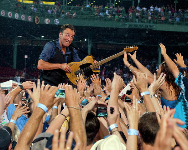 Frenzy Wall Art - Photograph - Bruce Springsteen At Fenway Park by Jeff Ross