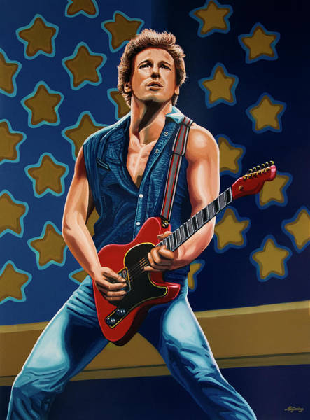 Painting - Bruce Springsteen The Boss Painting by Paul Meijering