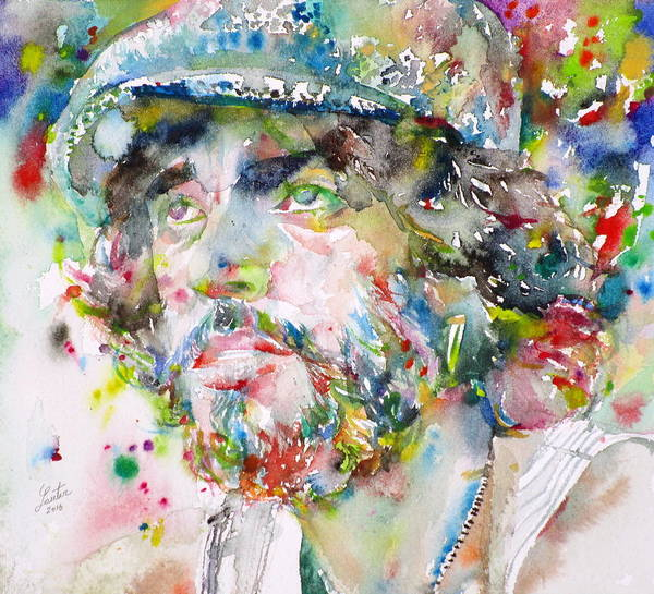Wall Art - Painting - Bruce Springsteen - Watercolor Portrait.3 by Fabrizio Cassetta