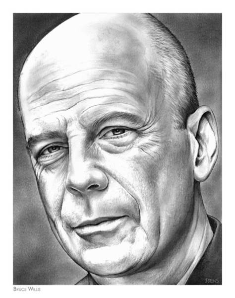 Actor Drawing - Bruce Willis by Greg Joens