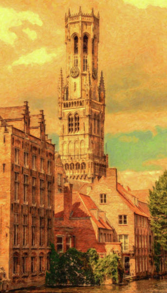 Painting - Bruges Belgium Belfry - Dwp2611371 by Dean Wittle