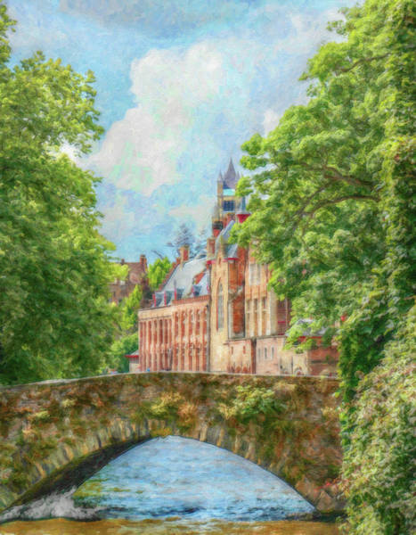 Painting - Bruges Belgium - Dwp2586887 by Dean Wittle