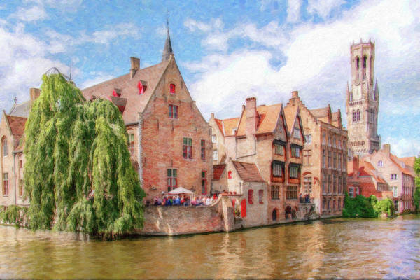 Painting - Bruges Canal Belgium Dwp-2611575 by Dean Wittle
